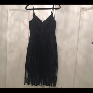 Suede Fringed Dress